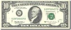 десять долларов