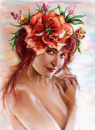 венок из красных лилий